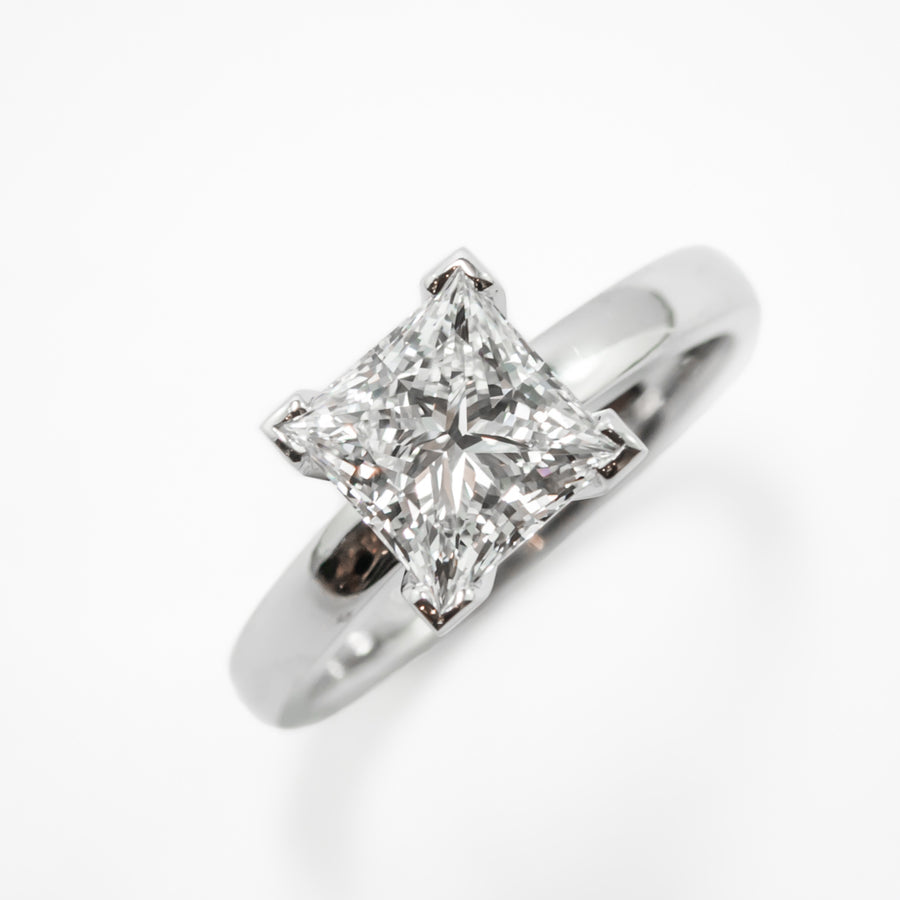Princess Cut Diamond Engagement Ring in Platinum Perth