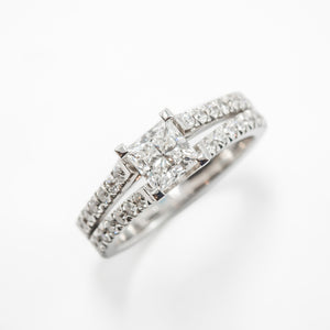 Engagement Ring in 18ct White  Gold