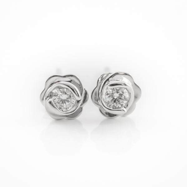 One Pair Rose Ear Studs