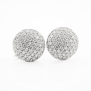 Round Brilliant Cut Diamond Earrings in White Gold