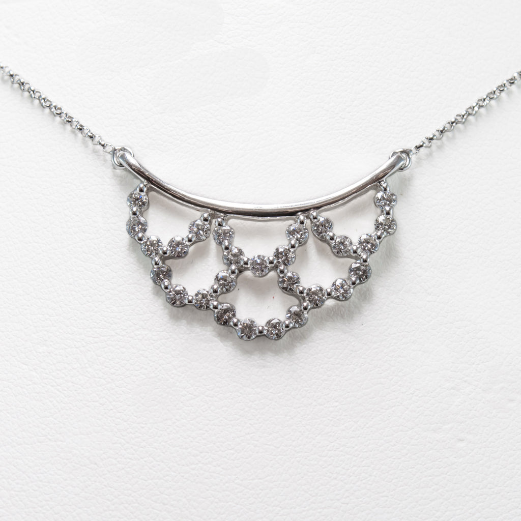 One 18 Carat White Gold and Diamond Necklace