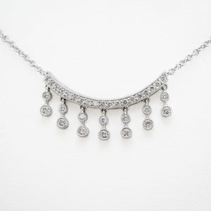 Drop Necklace in White Gold with Diamonds