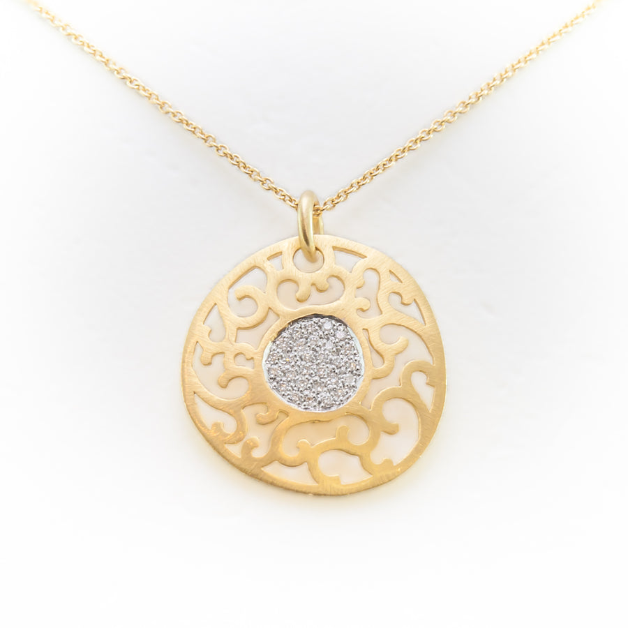 Star Dust Necklace in 18ct Yellow Gold With Diamonds