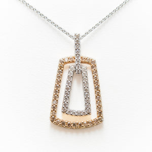 Champagne Necklace in 18ct Rose & White Gold With Diamonds