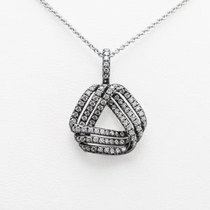 Black Rhodium Necklace in White Gold with Diamonds