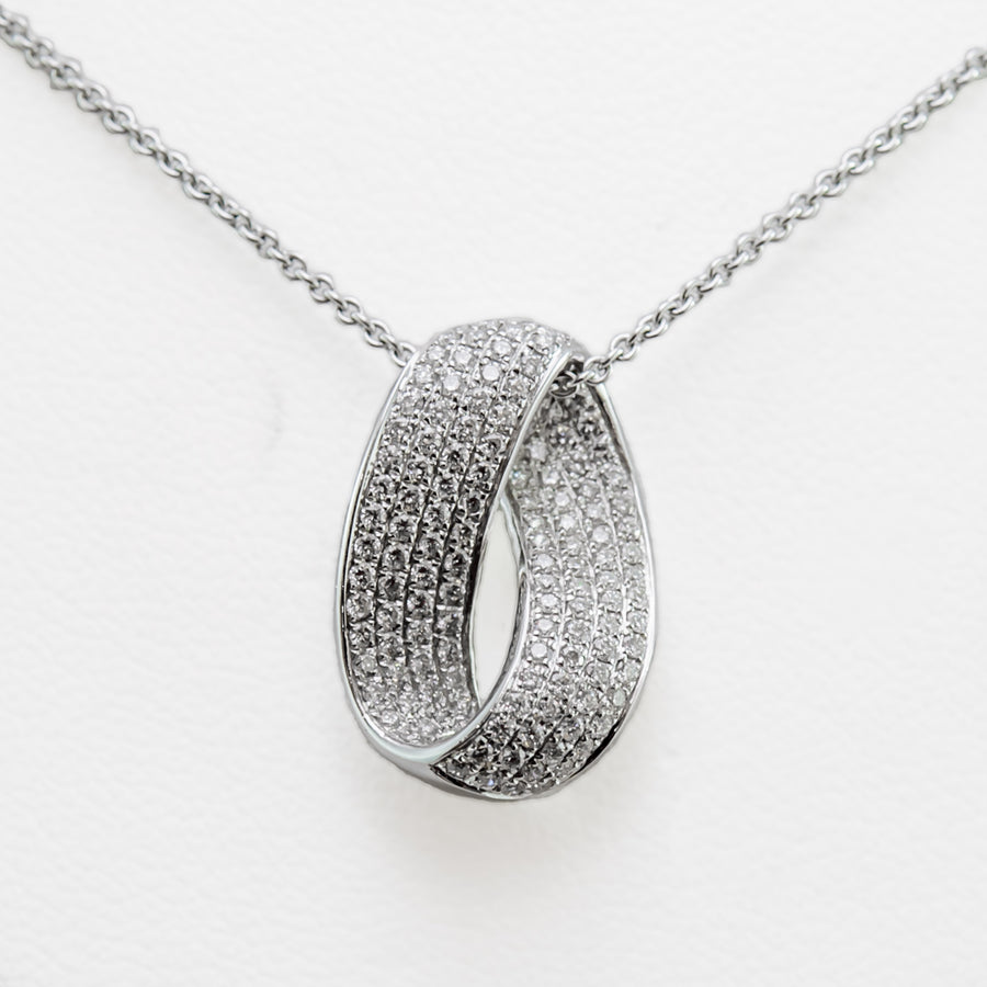 Eternity Necklace in 18ct White Gold with Diamonds