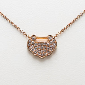 Pave Necklace in Rose Gold with Diamonds