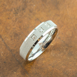 Men's Diamond Ring in White Gold Perth