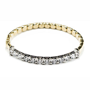 Hinged Diamond Bangle in Platinum & 18ct Yellow Gold