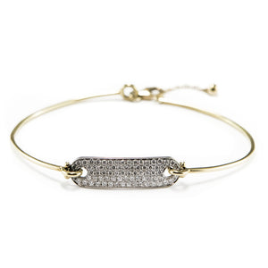 Diamond Pavé Bracelet in 18ct White & Yellow Gold