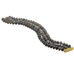 Tahitian Pearl and Moonstone Bracelet in 18ct Yellow Gold