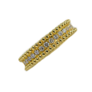 Beaded Diamond Ring in 18ct Yellow Gold