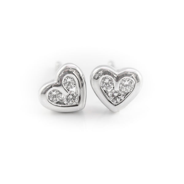 One Pair Heart Shape Ear Studs