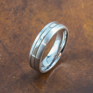 men's white gold wedding band perth