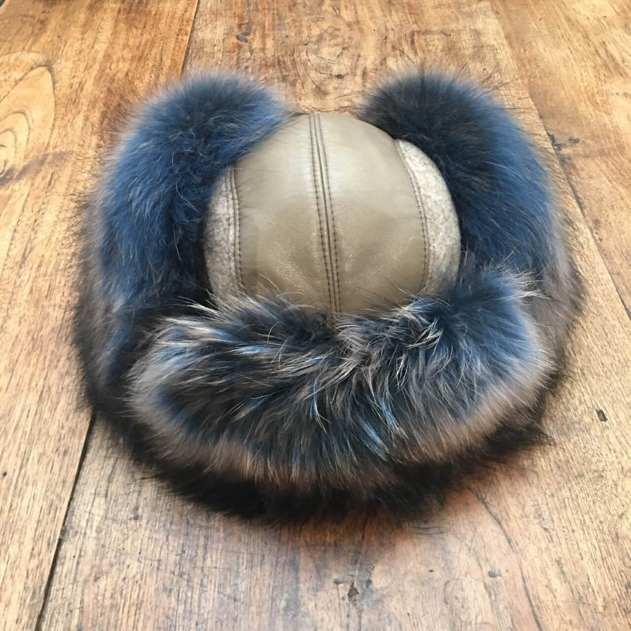 Gena Fur Hat Blue