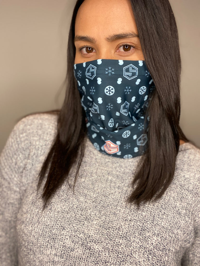 Skidress Neck Warmer - Printed Snowflakes