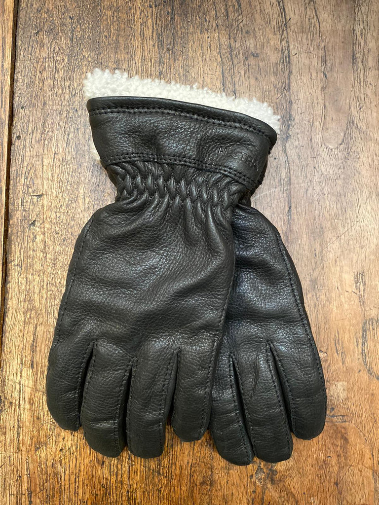Hestra Ladies Black Leather Gloves
