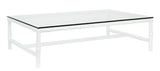 RECTANGULAR COFFEE TABLE GLASS - ALBOO