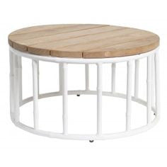 ROUND COFFEE TABLE TIMBER TOP - ALBOO