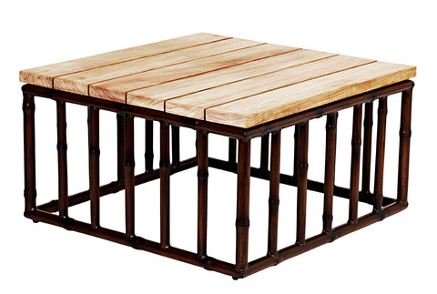 COFFEE TABLE SQUARE - BAMBOO FINISH