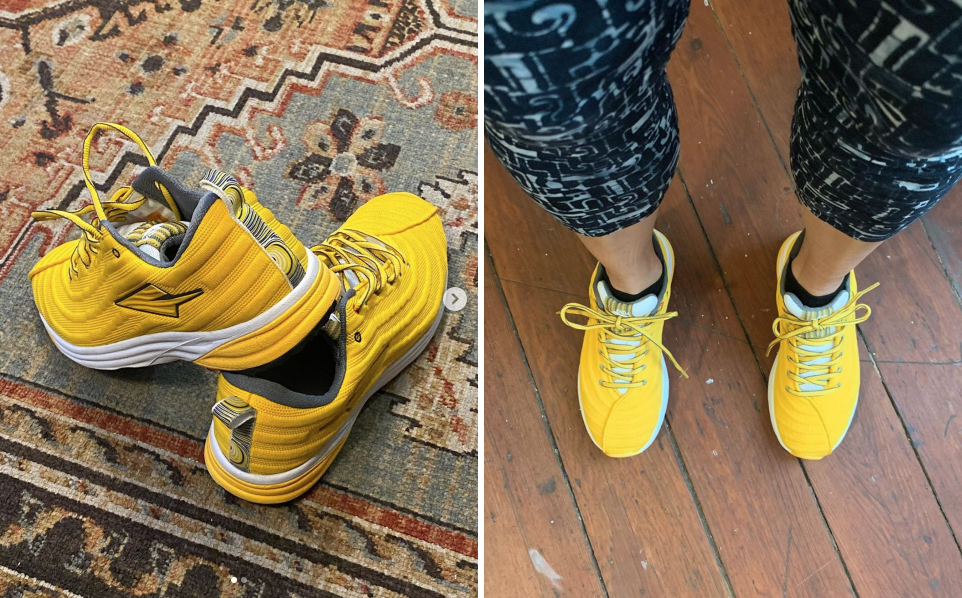 Mara Gold Lapatet running shoes on Instagram