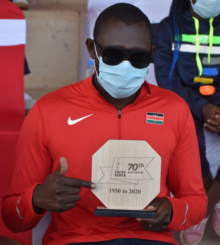 Rudisha celebrates Athletics Kenya