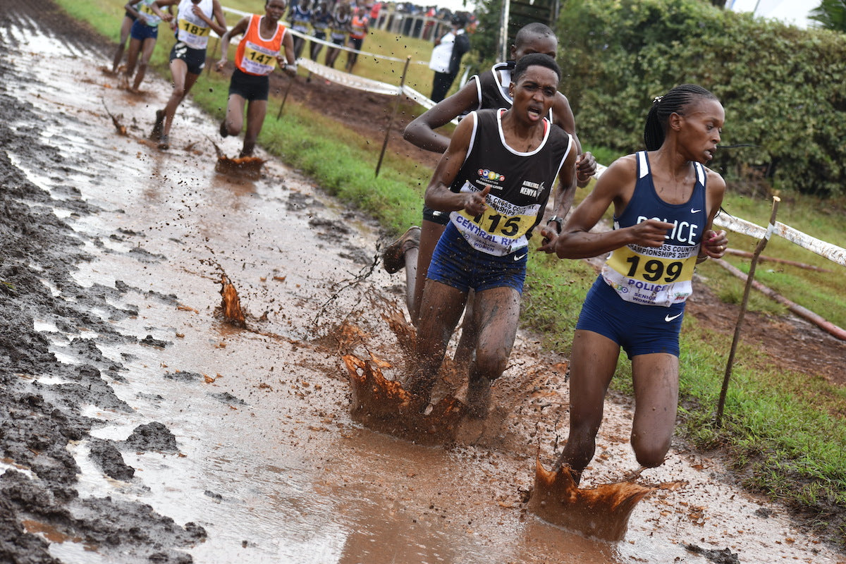 Sheila Chelangat leading the women's cross country race. Photo Credit: Michelle Katami