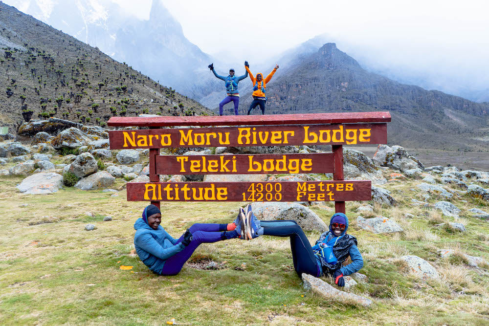 Athletes on Mt Kenya