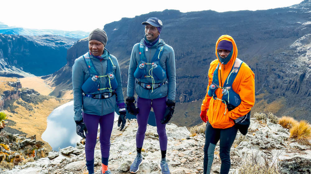 Runners on Mt Kenya