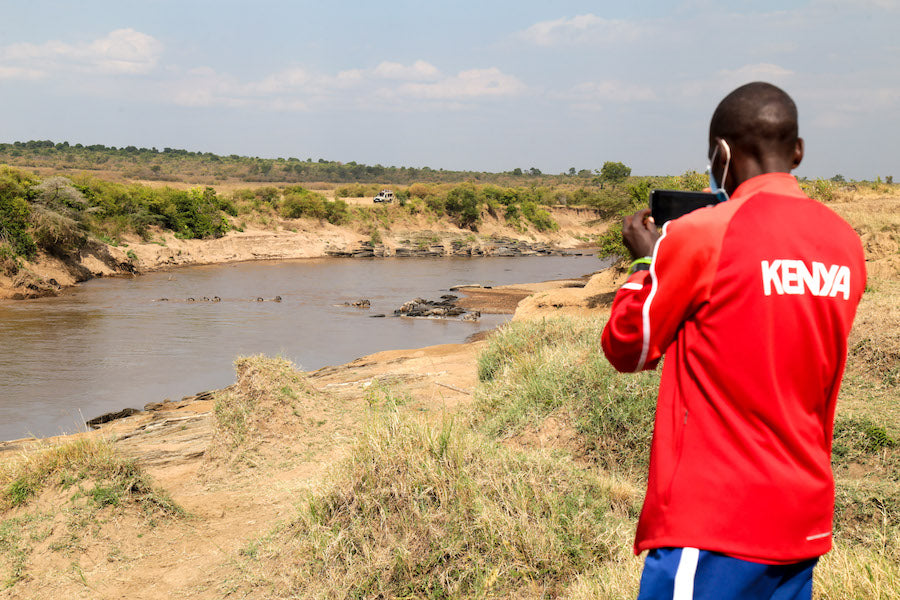 Eliud Kipchoge in the Maasai Mara