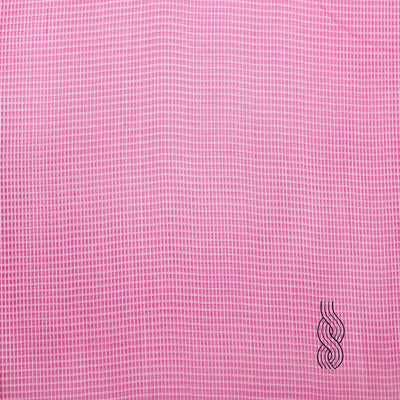 Tussar Cotton Checks Pink