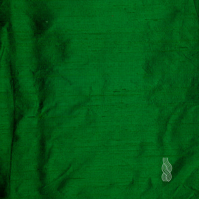 Raw Silk (Dupion) India Green