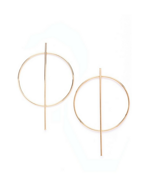 Bold Hoop Earrings Gold