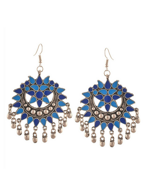 Haseen Chandbalis Earrings (Blue)