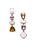 Amber Pink Crystal Earrings