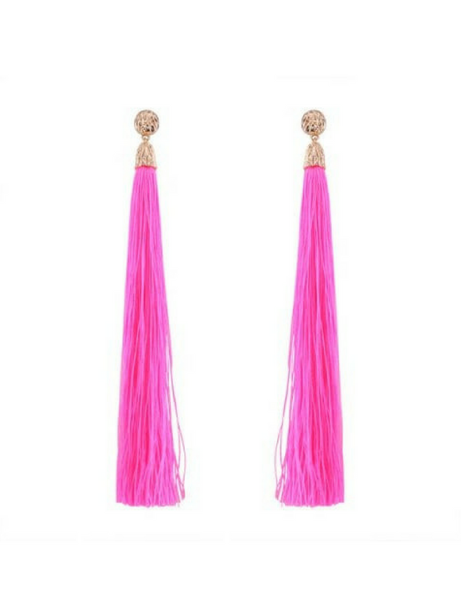 Bella Tassel Pink Earrings