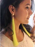 Bella Tassel Neon Earrings