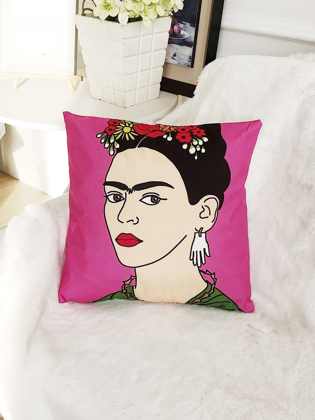 Frida Kahlo Print Cushion Cover
