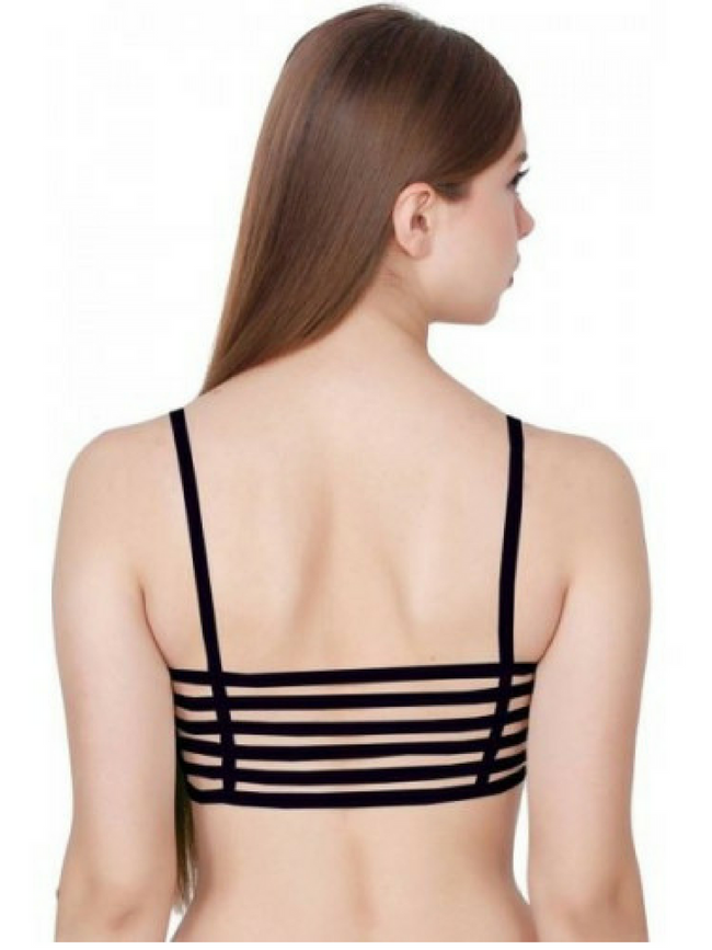 Six Strap Bralet - Black