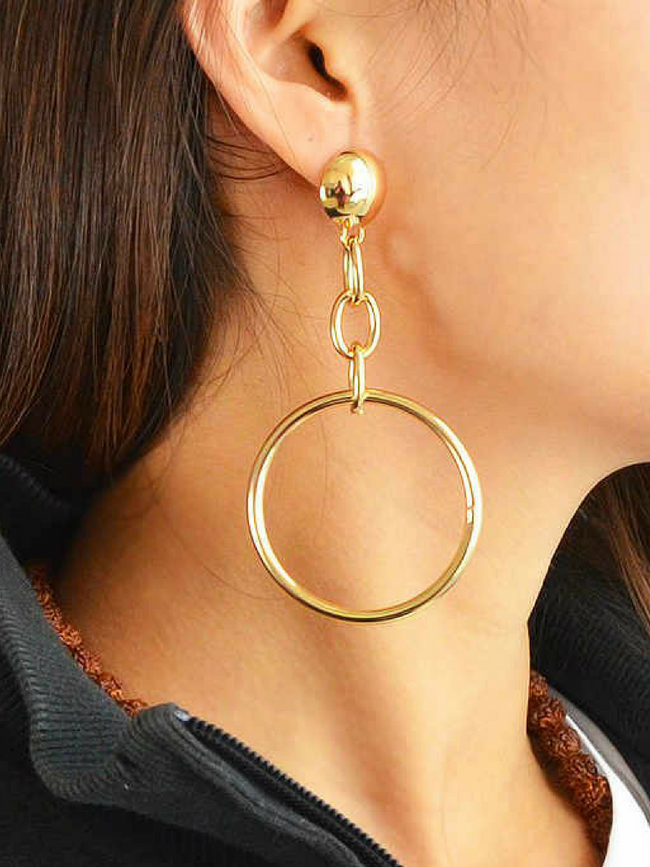 Metallic Chain Drop Earrings