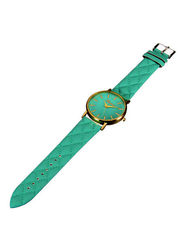 QUILTED MINT WATCH