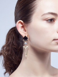 Classy Black & Gold Earrings