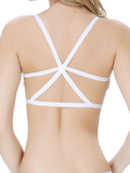 Cross Caged Bralet - White