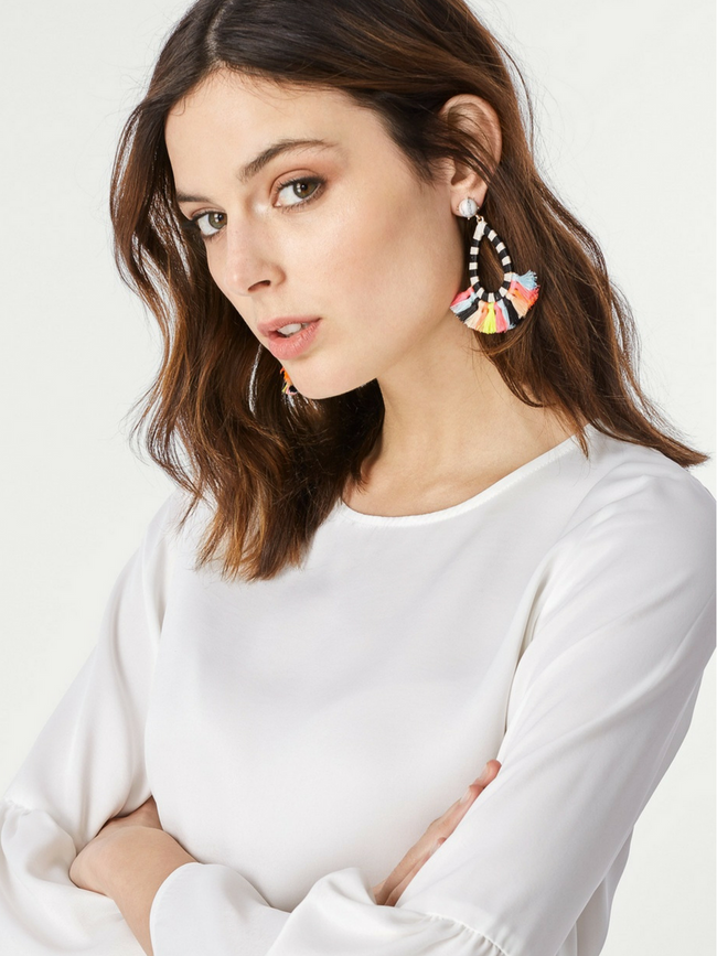 Vivian Tassel Rainbow Earrings