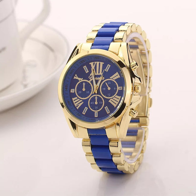 ANTIQUE BLUE METALLIC WATCH