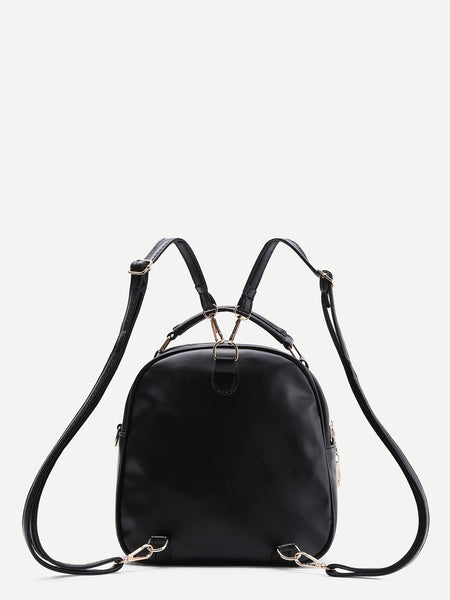 Tassel Black Backpack