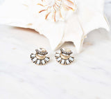 Glamour Gold Stud Earrings