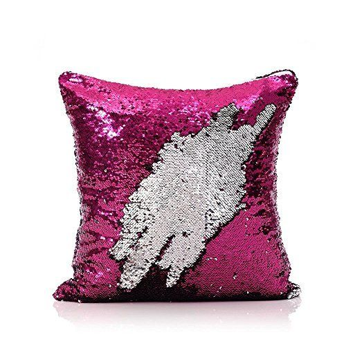 Mermaid Cushion Cover - Silver/Pink
