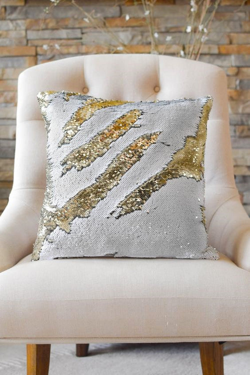 Mermaid Cushion Cover - White/Gold