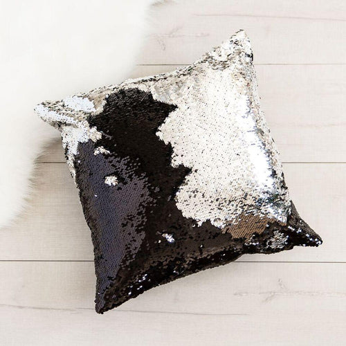 Mermaid Cushion Cover - Silver/Black
